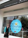 My mom at Georgetown Cupcakes