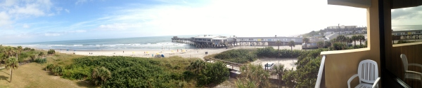 My attempt at using the panorama iPhone option...view from the La Quinta at Cocoa Beach