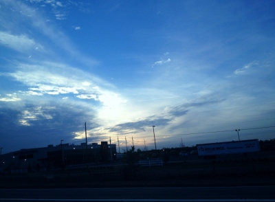 Beautiful skies on the trip