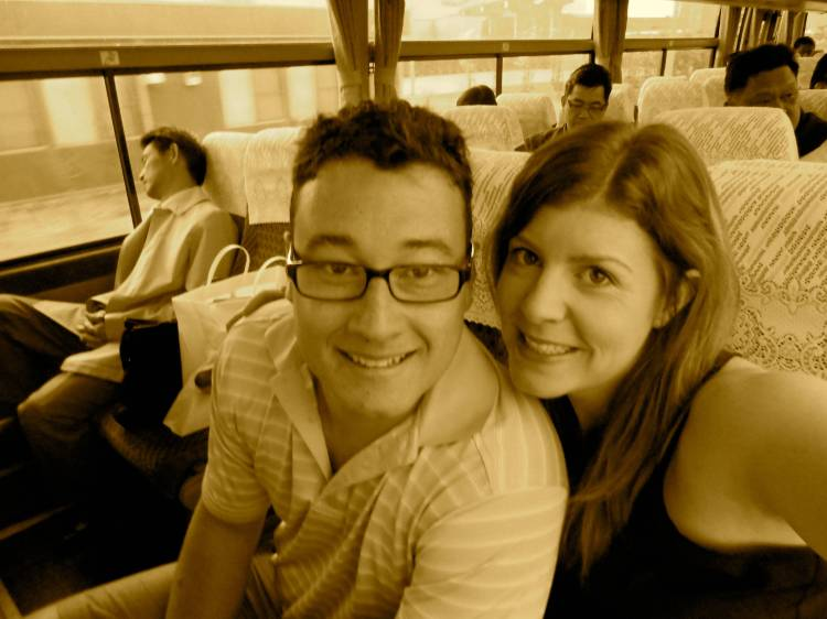 The happy traveling couple :)