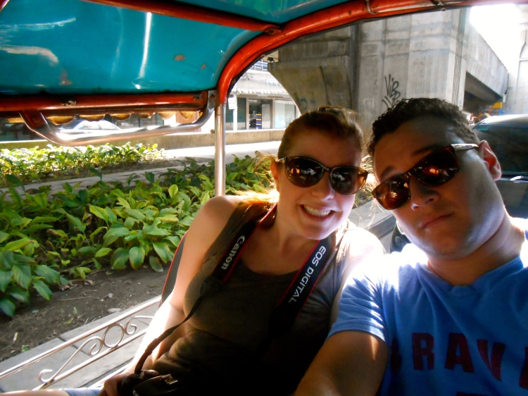 Us in the tuk tuk