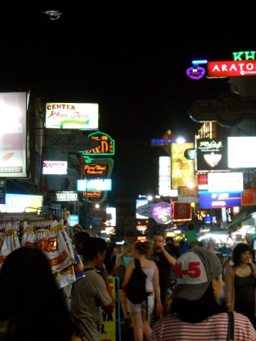 Khao San Road by night