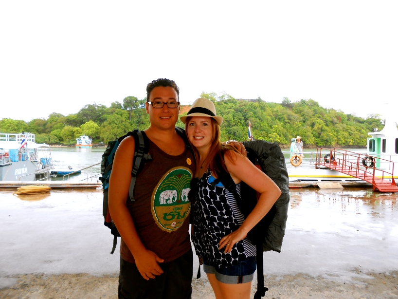 About to hop on our first ferry to Phi Phi