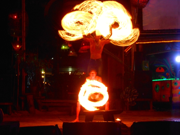 Fire show on Phi Phi