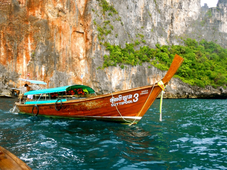 Our longtail boat from our excursion