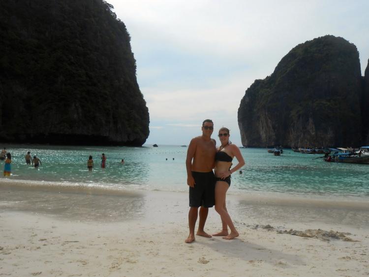 Us on Maya Beach