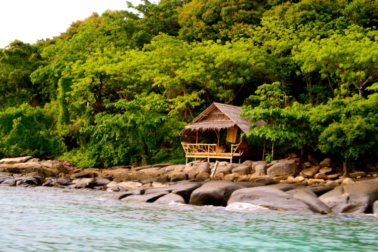 A random hut along the beach