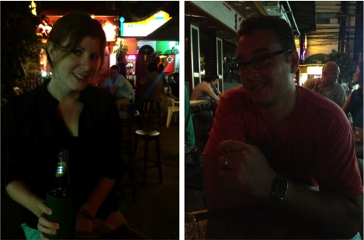Having drinks on Soi 11