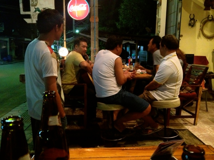 Locals playing music