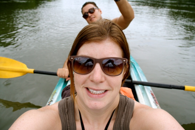 RG and myself in the kayak