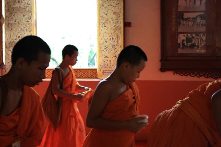 Boys becoming men as monks