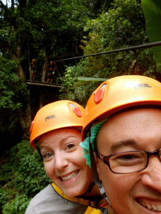 We even got to zip-line one let together!