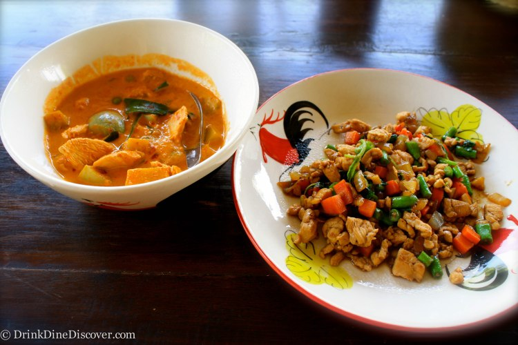 Tom Yum and Basil Chicken