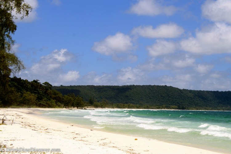 7km beach on Koh Rong...definitely worth the hike to the other side of the island