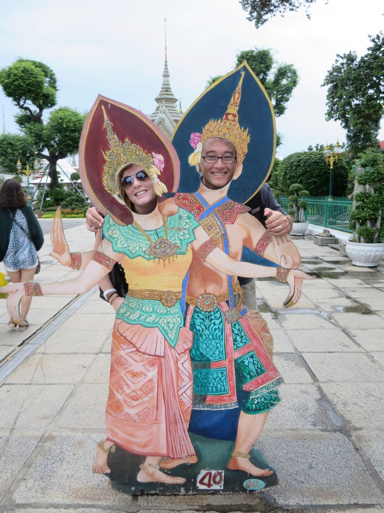 Having some fun before heading into the Grand Palace
