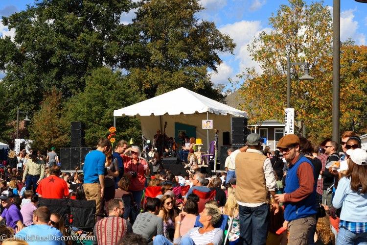 Bluegrass music stage
